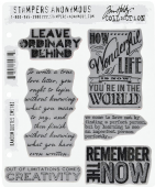 Stampers Anonymous/Tim Holtz - Cling Mount Stamp Set - Random Quotes - CMS182